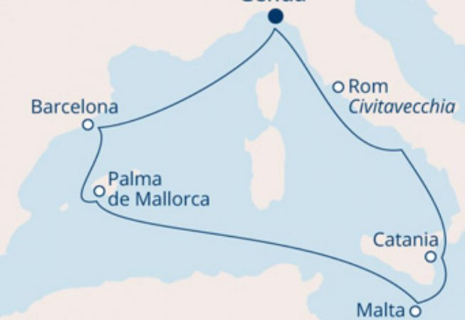 Costa reiseroute rocknroll cruise