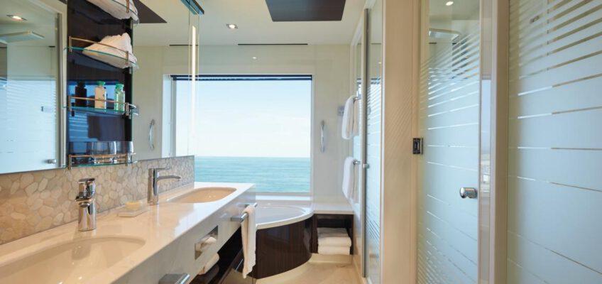 Norwegian Cruise Line The Haven - Bliss Haven Suite Badezimmer